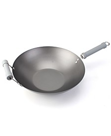 "Traditional Nonstick 14"" Spun Wok with Helper Handle"