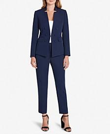 Notched-Collar Pantsuit