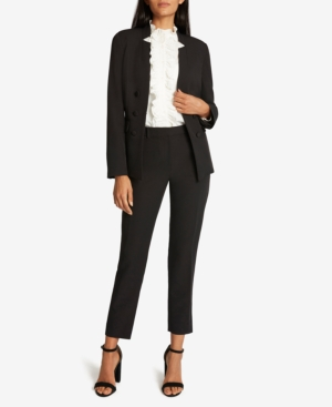 Tahari Asl NOTCHED-COLLAR PANTSUIT