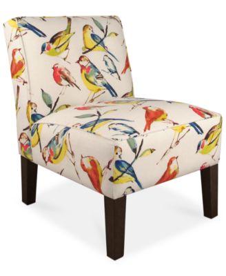 Calabasas Bird Watcher Fabric Accent Chair, Quick Ship. Furniture