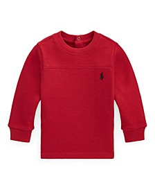 Ralph Lauren Baby Boys Waffle-Knit Cotton Top