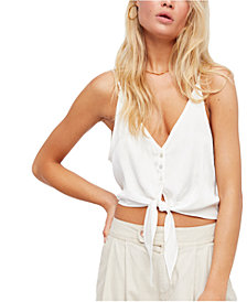 Free People Two Tie For You Cropped Camisole