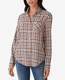 Plaid Classic Button-Down Top