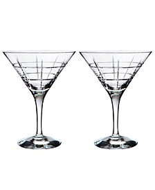 Set of 2 Street Martini Glasses