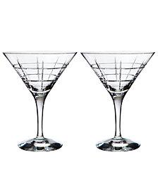 Orrefors Set of 2 Street Martini Glasses