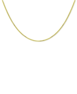 """Box Link 18"""" Chain Necklace in 18k Gold-Plated Sterling Silver"""