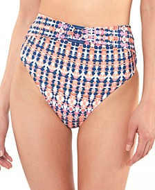 Laguna Beach High-Waist Belted Bikini Bottoms