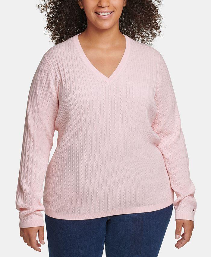 Tommy Hilfiger - Plus Size Cotton Cable-Knit Sweater