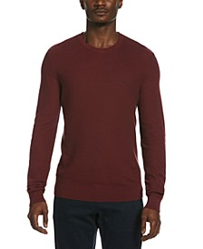 Men's Tuck-Stitch Crewneck Sweater