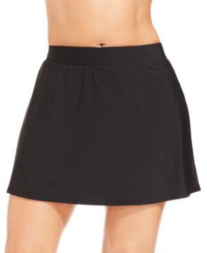 MIRACLESUIT Plus Size Swim Skirt Women'S Swimsuit in Black