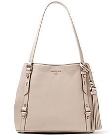 Carrie Large Leather Shoulder Tote