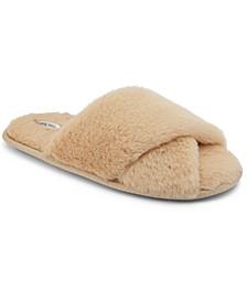 Faux Fur Crisscross Slippers