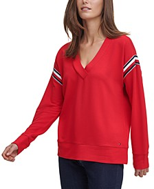 Deep V-Neck Sweatshirt