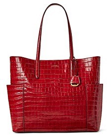 Carlyle Croc-Embossed Leather Tote