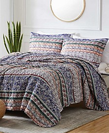Georgetown Ibzia 3-Piece Reversible Quilt Set, Queen