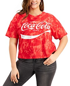 Plus Size Tie-Dyed Coca-Cola Cropped T-Shirt