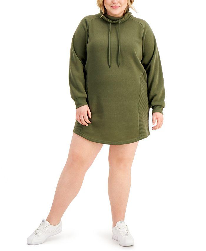 FULL CIRCLE TRENDS - Trendy Plus Size Sweatshirt Dress