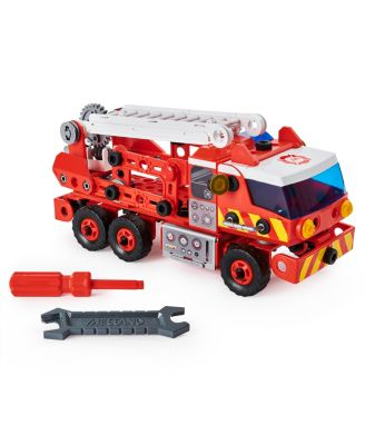 Erector by Meccano Discovery, Rescue Fire Truck with Lights and Sounds Steam Building Kit