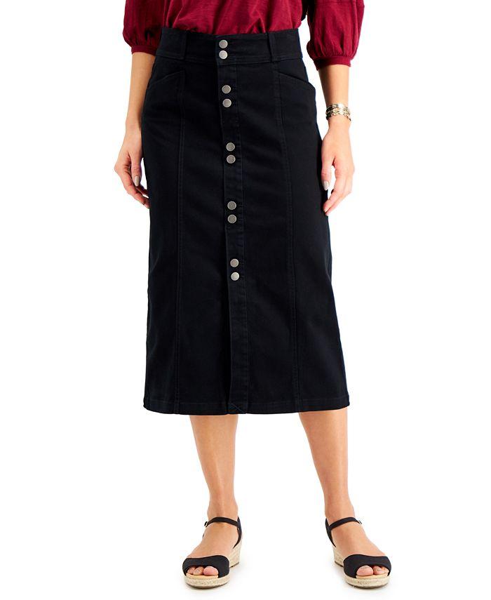 Style & Co - Denim Midi Skirt