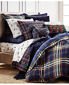 Midcentury Plaid Bedding Collection, Created for Macys
