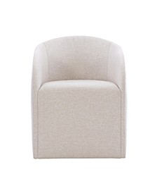 Logan Square castered arm chair