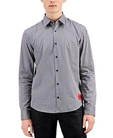 Hugo Boss Men's Ermo Slim-Fit Vertical Stripe Shirt