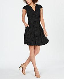 julia jordan Lasercut Mesh-Inset Dress