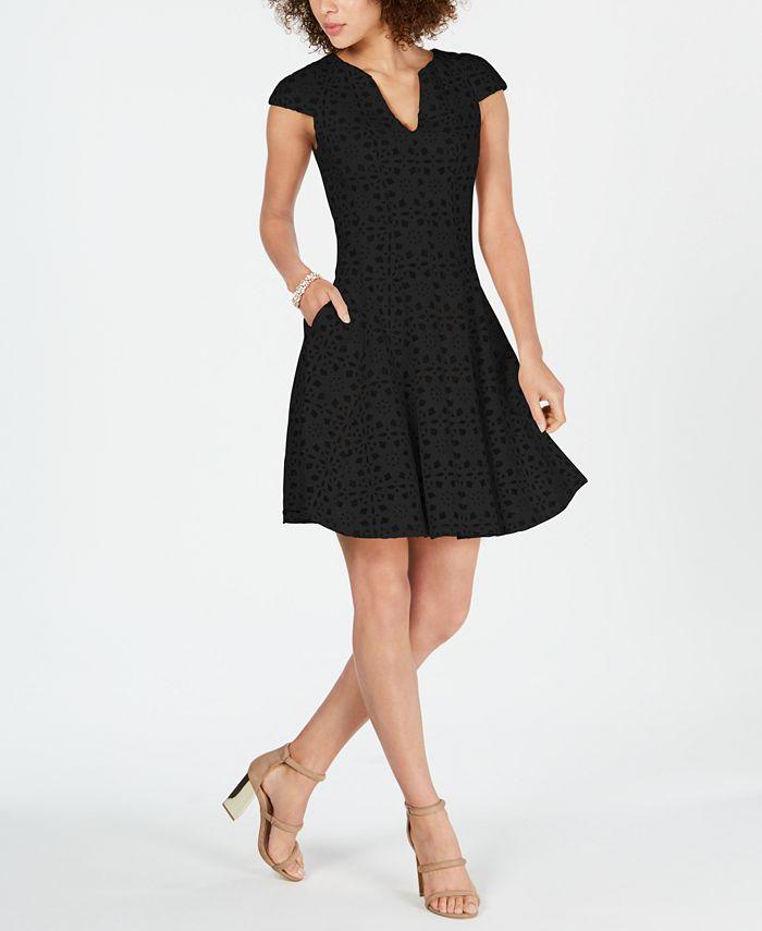 julia jordan - Lasercut Mesh-Inset Dress
