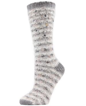 Jewelled Knit Women's Cozy Crew Socks