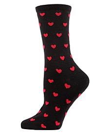 Hearts Cashmere Women's Crew Socks