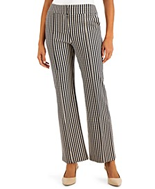 Printed Pintucked Trousers, Created for Macy's