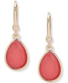Gold-Tone Pavé & Stone Drop Earrings