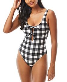Bunny-Tie One-Piece Swimsuit