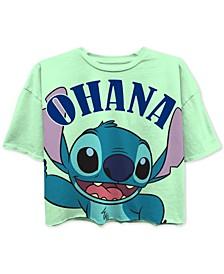 Juniors' Stitch Ohana Cropped Graphic T-Shirt