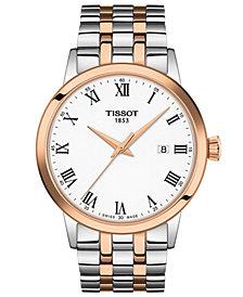Tissot Men's Swiss Classic Dream Two-Tone Stainless Steel Bracelet Watch 42mm