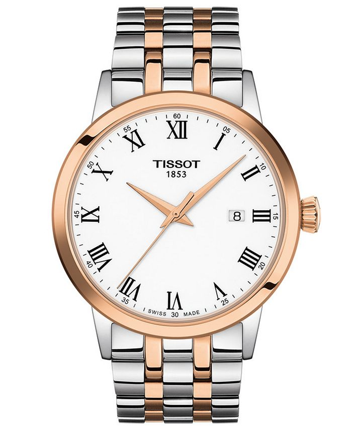 Tissot - Men's Swiss Classic Dream Two-Tone Stainless Steel Bracelet Watch 42mm