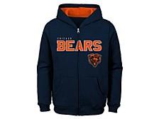 Chicago Bears Kids Stated Full Zip Hoodie