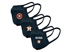"Level Wear Houston Astros 3pack ""Guard 2"" Face Covering"