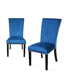 Camila Blue Velvet Dining Chair, Created for Macy's
