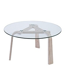 Anwick Round Glass -Top Cocktail Table
