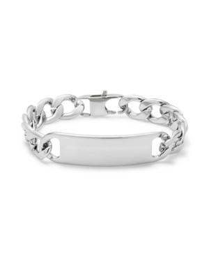 Men's Stainless Steel Curb Link Id Bracelet