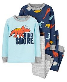 Carters Baby Boy 4-Piece Dino Snore 100% Snug Fit Cotton PJs