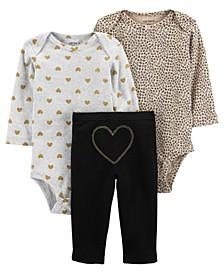 Carters Baby Girl 3-Piece Bodysuit Pant Set