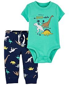 Carters Baby Boy 2-Piece Dinosaur Bodysuit Pant Set