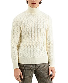 Men's Limited Edition Chunky Cable Turtleneck Sweater