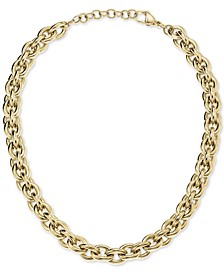 """Statement 18 1/2"""" Chain Necklace in Gold-Tone PVD Stainless Steel"""