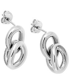 Statement Link Earrings in Stainless Steel