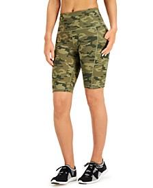 Camo Pocket Bike Shorts, Created for Macy's