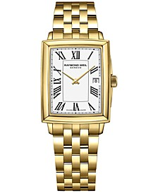 Women's Swiss Toccata Gold PVD Stainless Steel Bracelet Watch 25x35mm