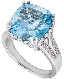 Blue Topaz (8-1/4 ct. t.w.) & Diamond (1/10 ct. t.w.) Ring in Sterling Silver (Also in Citrine, Mystic Topaz & Amethyst)